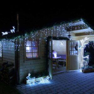 Valguskardin 180 LED külm valge