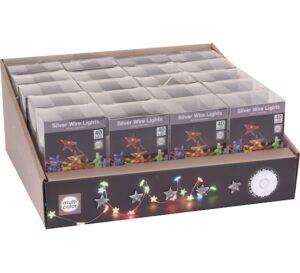 Valgusjuhe 40 LED tähtedega värviline