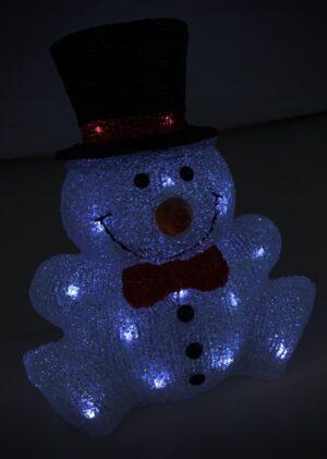 Akrüülkuju lumememm 30 LED 230V