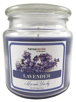 Lõhnaküünal klaaspurgis 65-75h lavendel