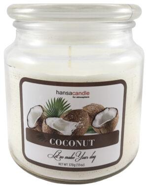 Lõhnaküünal klaaspurgis 65-75h kookos