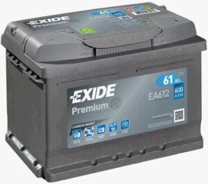 Aku Exide Premium 61Ah 600A 242x175x175mm -+