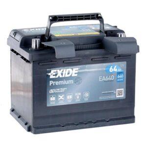 Aku Exide Premium 64Ah 640A 242x175x190mm -+