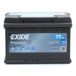 Aku Exide Premium 77Ah 760A 278x175x190mm -+