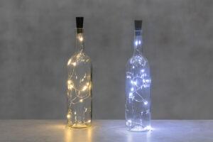 Valgusjuhe Finnlumor 10 LED pudelisse külm valge